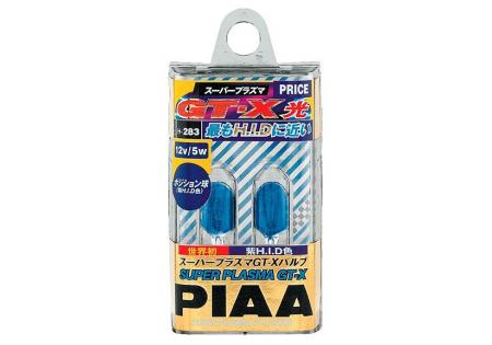 PIAA 168 Wedge Super Plasma GT-X Miniature Bulbs Twin Pack