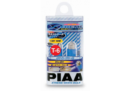 PIAA T-6 Dome Lamp Xtreme White Miniature Bulbs Twin Pack
