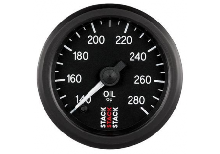 STACK 52mm Pro Stepper Analog Oil Temperature Gauge - 140-280F