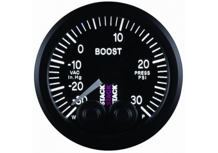 STACK 52mm Pro-Control Boost Gauge - 30inHg to 30psi