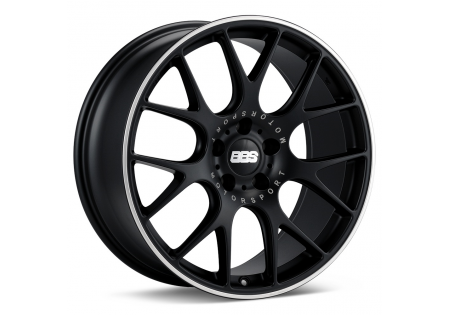 BBS CH-R Wheel Satin Black Polished Rim Protector
