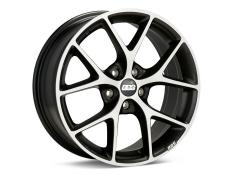 BBS SR Wheel Satin Black Diamond Cut Face